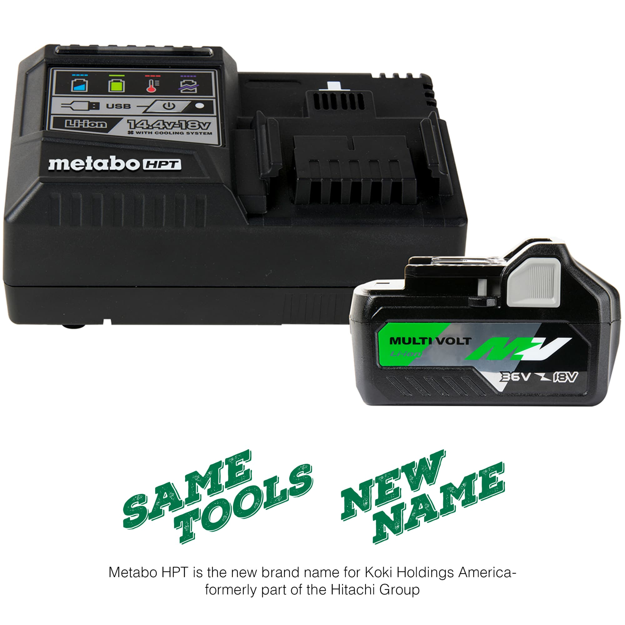 MultiVolt battery and charger