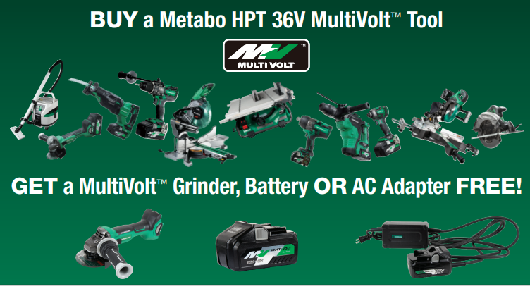 Metabo HPT Promotions October 2019