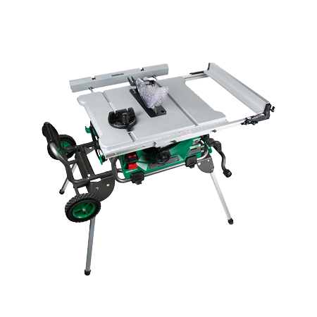 Metabo HPT Jobsite Table Saw with Fold Roll Stand 10 inch