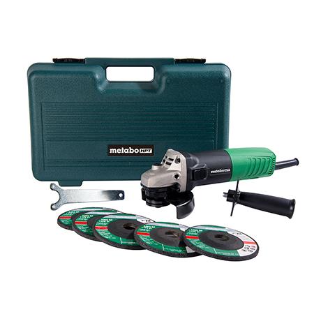 Metabo HPT 6.2-Amp, 4-1/2 inch Angle Grinder w/ 5 Abrasive Wheels
