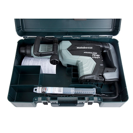 Metabo HPT AC Brushless, AHB Aluminum Housing Body, UVP User Vibration Protection, AC/DC 27 lb SDS Max Demolition Hammer