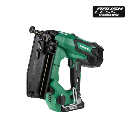 Metabo HPT 2-1/2 inch 18V Lithium Ion 16-gauge Straight Finish Nailer