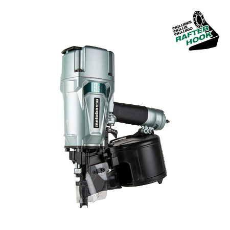 Metabo HPT 3-1/4 inch Coil Framing Nailer with Rafter Hook