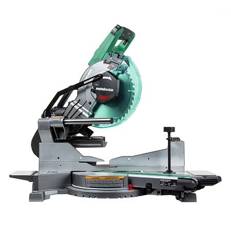 "Metabo HPT 36V MultiVolt Brushless 10"" Dual Bevel Sliding Miter Saw C3610DAQ4_angle image"