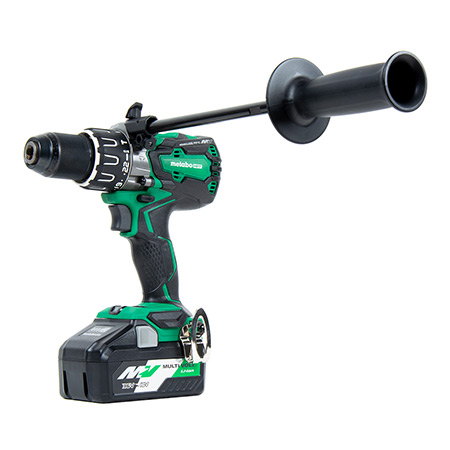 36V MultiVolt Brushless 1/2-in Hammer Drill Kit Image DV36DA_ANGLE-W-HANDLE