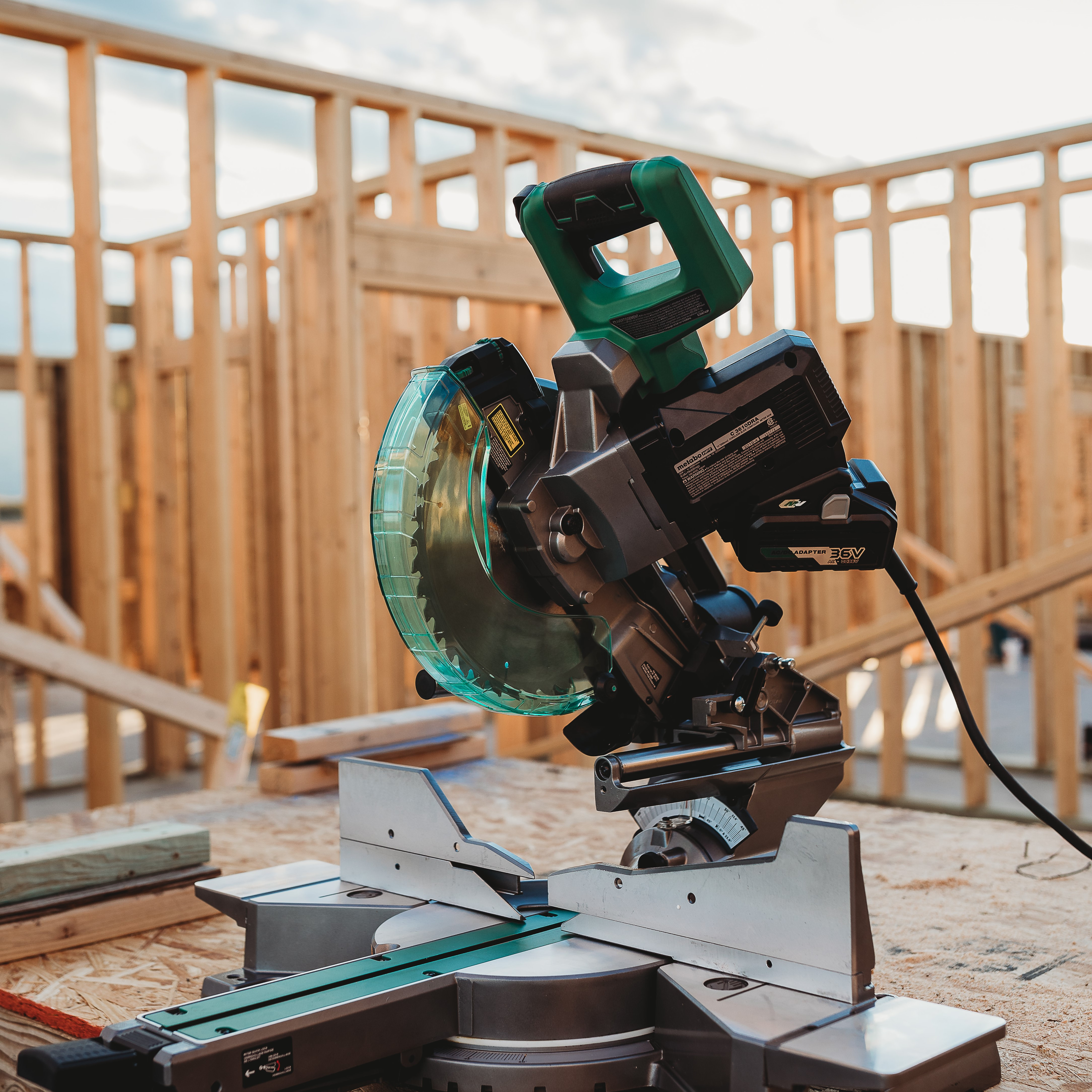 MultiVolt 10 inch Miter Saw with AC adapter