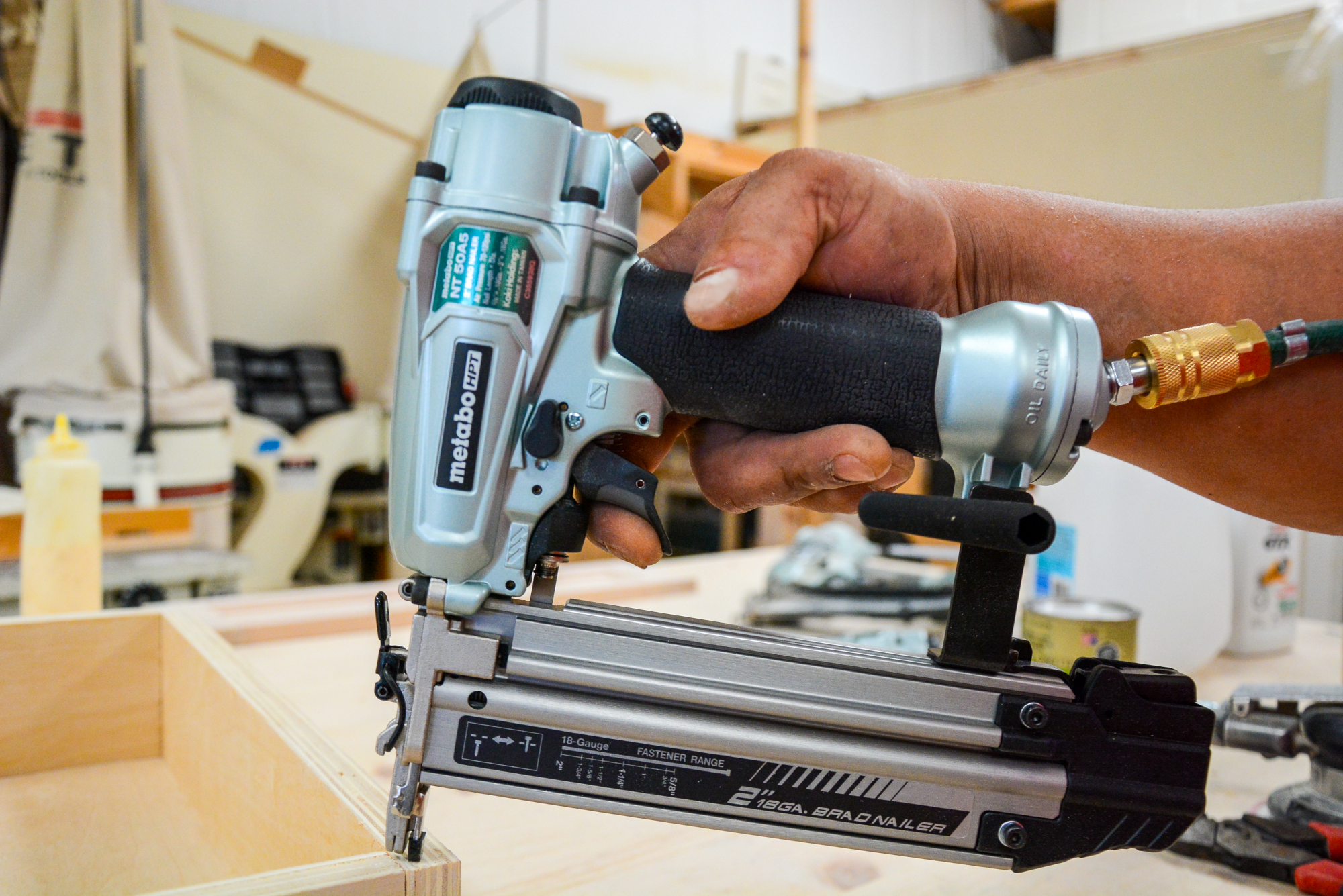 NT50A5 Finish Nailer Lifestyle