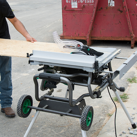 C10rj 10 Jobsite Table Saw W Fold Roll Stand